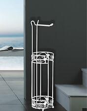 Neutral Design Paradise Toilet Roll Holder / Storer - White Powder Coated Metal