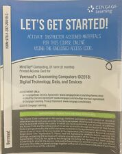 MindTap Computing 01 Term Access Code Card Vermaat's Discovering Computers 2018