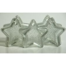 10 CLEAR SPARKLE STAR balloon weights party wedding engagement