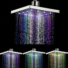 1pc Led Colorful Shower Head 7-color Changing Shower Head No Battery Led Waterfall Shower Head Round Bathroom Head Freeship Home Improvement