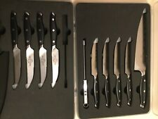 Trusted Butcher New 10 pc Knife Set. 1 Chef + 8 Steak knives, + Thermometer