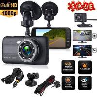 "4"" Auto Kamera Full HD1080P Dashcam Audio Recorder KFZ DVR Überwachung Dual Lens"