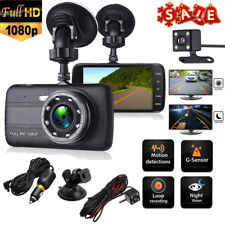 "4"" Vehicle Dual Lens Car Camera DVR Video Dash Cam Audio Recorder Full HD 1080P"