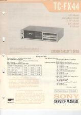 SONY Service Manual Konvolut TC-FX44/33/33B - B2046