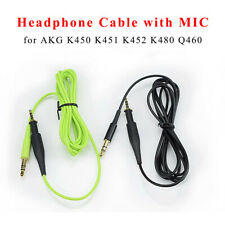 Replacement Audio Cable for AKG K450 K480 Q460 with Volume Control Microphone