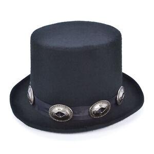 Rocker Style Top Hat - Slash Victorian Fancy Dress Costume Accessory 1980's