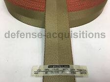 2 Inch MilSpec Military Webbing MIL-W-4088 T/8B COYOTE (RED THREAD)