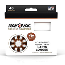 Rayovac Proline Advance Hearing Aid Batteries, Size 312A (96 count), New