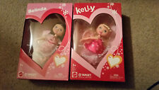 KELLY & BELINDA VALENTINE DARLINGS MATTEL BARBIE DOLLS NEW 2003 TARGET
