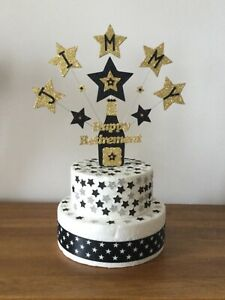 Decoration Cake Topper Retirement  Champagne Bottle Personalised all Colours