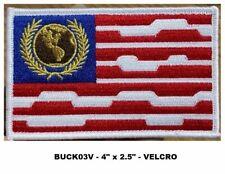BUCK ROGERS WILMA US FLAG VEL KRO PATCH  - BUCK03V