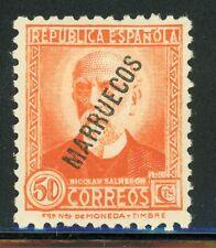 SPANISH MOROCCO MH Selections: Scott #139 50c Orange $$