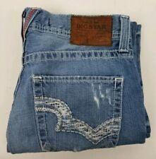 Big Star Pioneer Mens Jeans Regular Boot Cut Distressed 35x30