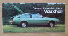 VAUXHALL RANGE 1979 UK Mkt Small Brochure  Royale Cavalier Viva Chevette Carlton
