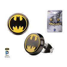 DC Batman Logo Enamel Stud Earrings Officially Licensed Jewellery