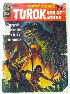 Gold Key TUROK, SON OF STONE (1966) #1 2nd PRINT Silver Age GD- Ships FREE!