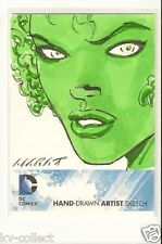 DC Comics : THE NEW 52 TRADING CARDS SKETCH CARD  FIRE