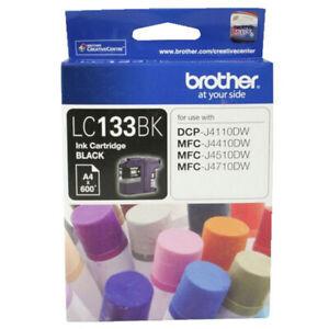 Genuine Brother LC133BK Black Inkjet Cartridge .