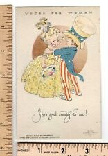 Suffrage Post Card 1915 Cambell Art Emily Hall Chamberlin 'Uncle Sam' Votes For