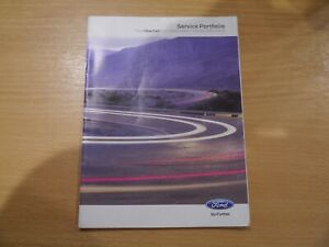 FORD MAINTENANCE SERVICE BOOK GUIDE BLANK ONLY SUPPLYING DEALER STAMPS