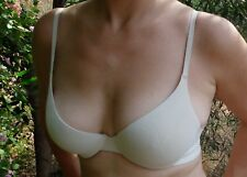 Victoria's Secret 34C Soft Bra Used Sexy underwired Beige worn Body  by Victoria