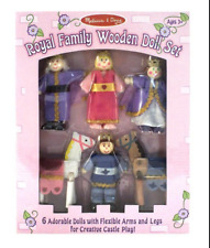 Royal Family Wooden Doll Set 6 PC Melissa & Doug #286 New in Package NIP