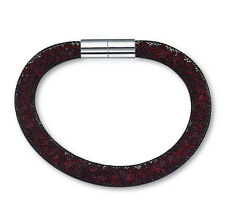 Made With Swarovski Crystal ELEMENTS Mesh Stardust Magnetic Bracelet Black Red