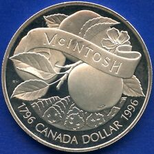 1996 Canada Silver Dollar (McIntosh Apple 200th ) 25.175 Grams.925 Silver