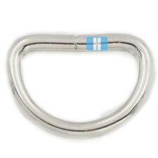 """10 Pcs 3/4"""" 19mm Metal Flat D Dee Rings D-Rings Webbing D Buckle Bag Nickel A062"""