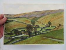 More details for really old painting yorkshire dales landscape signed
