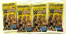 2016 TOPPS  WWE HERITAGE FAT  PACKS  ( 4 PACK LOT  )