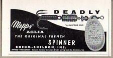 1960 Print Ad Mepps Aglia French Spinner Fishing Lures Sheldon Antigo,WI