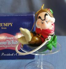 Grolier President's Edition Christmas Ornament GRUMPY from Disney Snow White