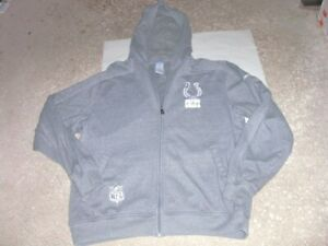 INDIANAPOLIS COLTS gray FULL ZIP FRONT sewn Hoodie Sweatshirt Medium Reebok