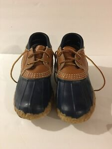 Bean Boots by LL Bean Women Low Ankle Duck Lace-up Shoes Brown/Tan  Sz 7m
