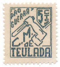 Sello Local Guerra Civil Teulada -Cat. Galvez 1.  ORD:1091