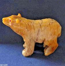 "Peruvian Soapstone Bear Carving Figurine (1) 2"""