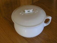 Antique Royal Ironstone Alfred Meakin England White Porcelain Coverd Chamber Pot
