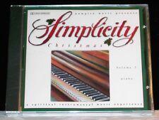 Simplicity Christmas Volume 3 Piano cd NEW!