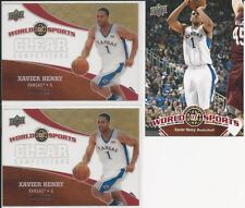 Xavier Henry 2010 Upper Deck World Of Sports Clear Competitors # CC8 2 Card Lot