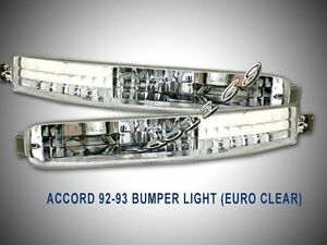 Fit For 1992 1993 Honda Accord Signal Clear Bumper Lights