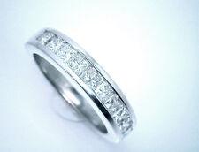 14K White Gold Band with 10 Diamonds. $2500 Nice 1 Carat Princess Cut Diamond