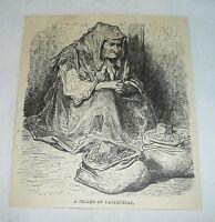 1878 magazine engraving ~ A SELLER OF CACAHUETAS, Spain