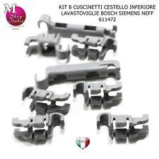 8 Gancetti Cuscinetti 00611472 cestello Lavastoviglie Bosch Siemens Neff