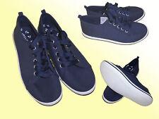 Zapatos mujer De Lona Cordones Zapatillas verano AZUL TALLA 41