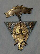 Antique Knights of Pythias Crest Pin Copyright 1874 SS Davis Supreme Lodge
