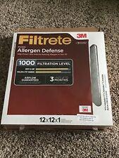 Filtrete 12x12x1 Ac Furnace Air Filter Mpr 1000 Micro Allergen Defense 2-Pack