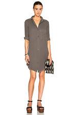 CURRENT ELLIOTT THE UNTWISTED SHIRTDRESS $268 Gray 2 M Buttondown Shirt Dress