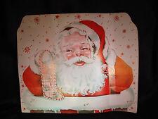 Vtg 50s E. Rosen Christmas Santa 2 Sided Cardboard Advertising Sign Stocking Top