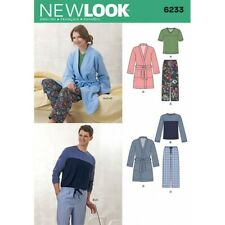 New Look Sewing Pattern Unisex Dressing Gown Pyjamas  6233